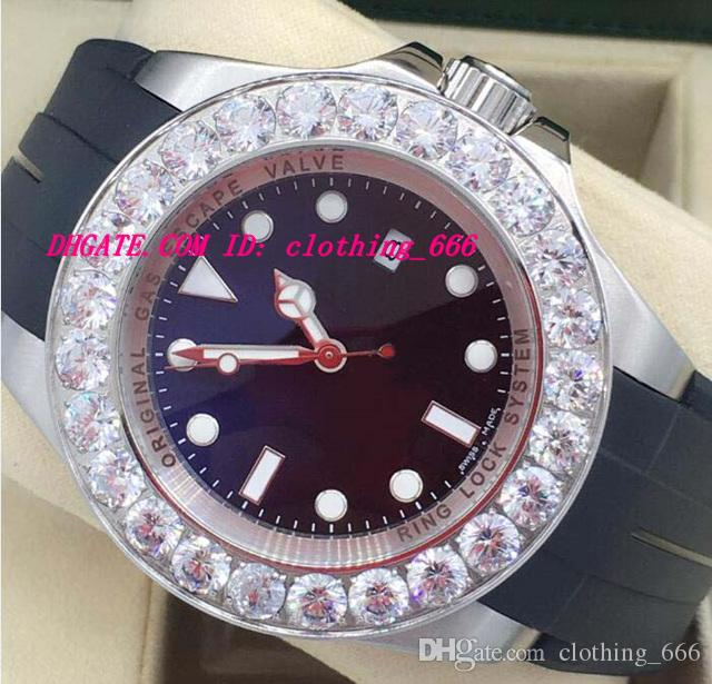 New Style Luxury Watches 2 Style Mens New Custom 44mm Genuine Diamond Watch Automatic Fashion Men's Watch Wristwatch