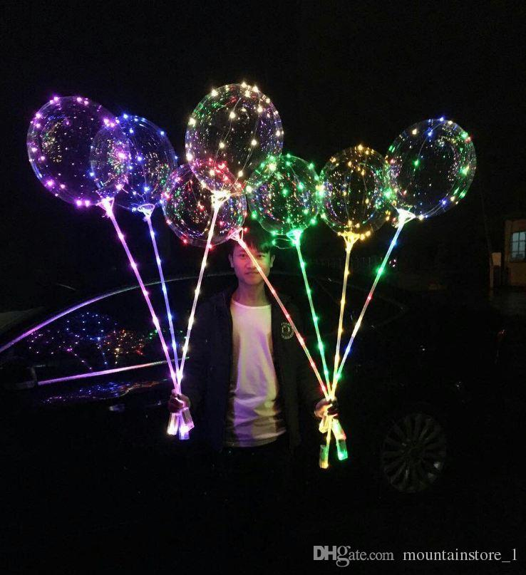 Newly 20 inch LED Light Balloon Led BoBo Balloon Lights For Birthday Wedding Christmas Decorative new year Outdoor Party (Retail)