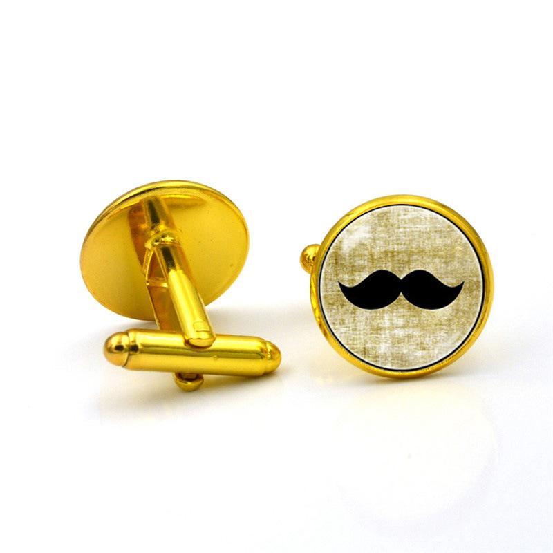 Gros-européens et américains bijoux heure de la barbe noire gem boutons de manchette