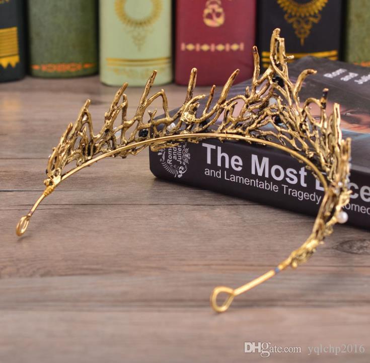 Bridal headwear princess crown wedding dress accessories crystal crown hoop