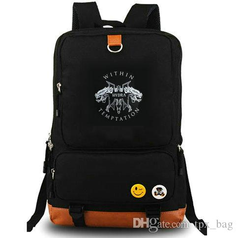Within Temptation Rucksack Angels Daypack Mutter Erde Metal Rockband Musik Schultasche Laptop-Rucksack Canvas-Schultasche Outdoor-Tagesrucksack