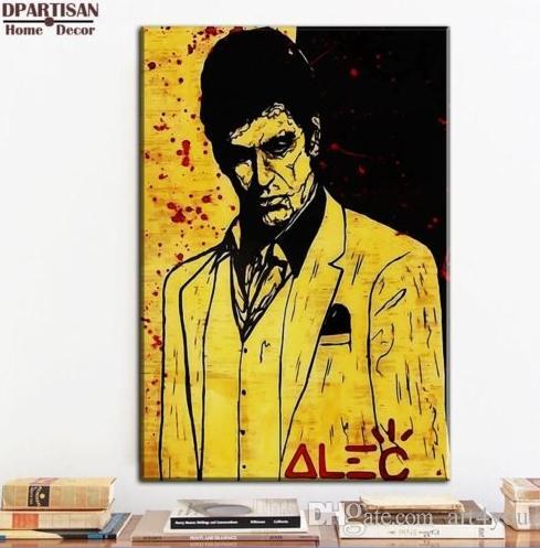 Hochwertige handbemalte HD Print abstrakte Graffiti Kunst Ölgemälde The Godfather Home Decor Wandkunst auf Leinwand Multi Größen g112