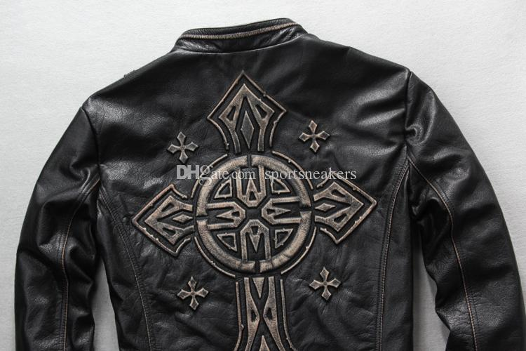 @sportsneakers Grande taille pour les manteaux de moteur pour hommes Harley vêtements de moto veste en cuir vachette cuir véritable DHL EMS