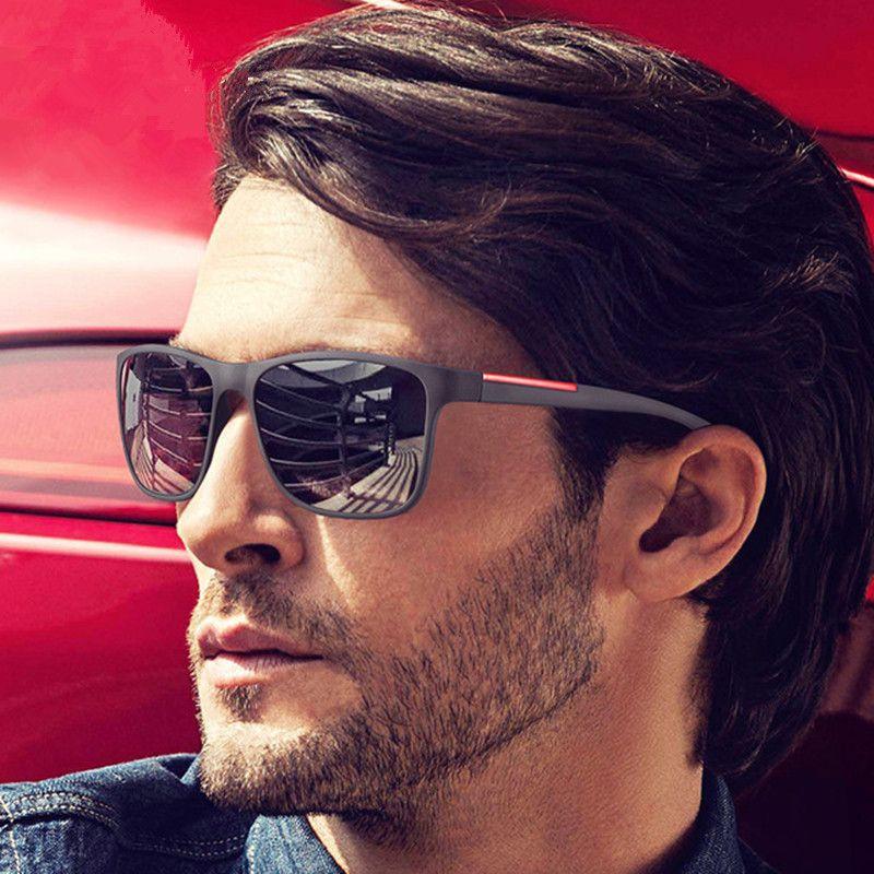 Toptan-Yüksek Kalite Kare Güneş Erkekler Retro Vintage Sunglass Sürüş Güneş Gözlükleri İçin Erkekler Erkek Sunglass 2018 Shades