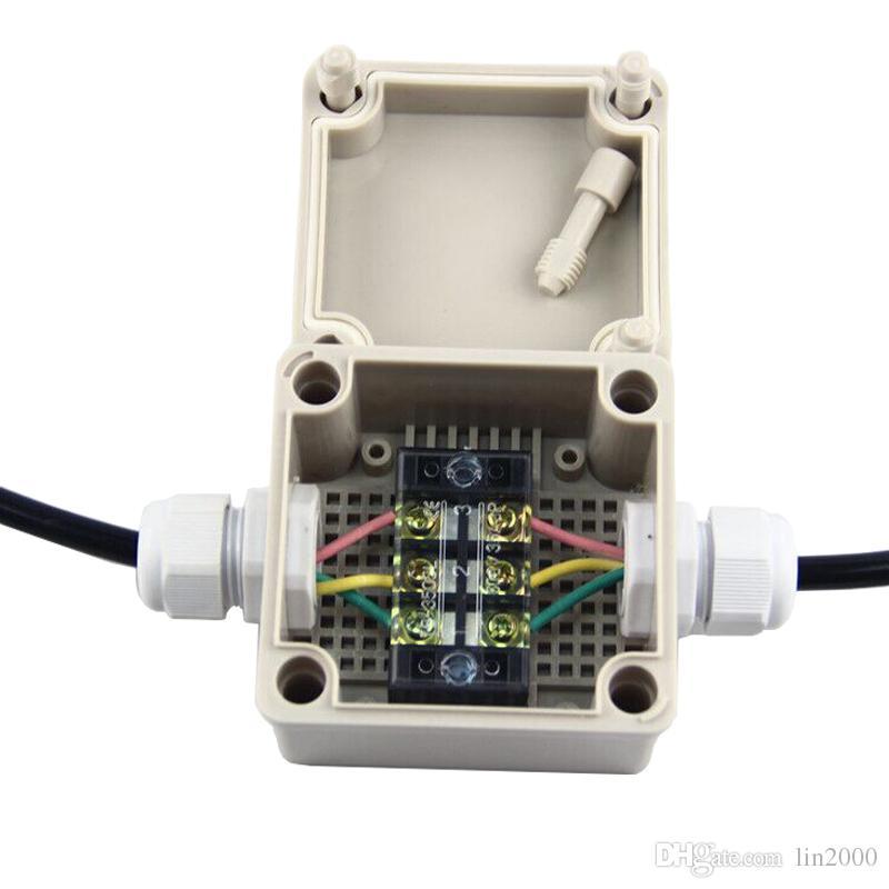 IP65 a prueba de agua eléctrico del recinto Proyecto Caja de conexiones con conectores glándula 86 * 84 * 60mm