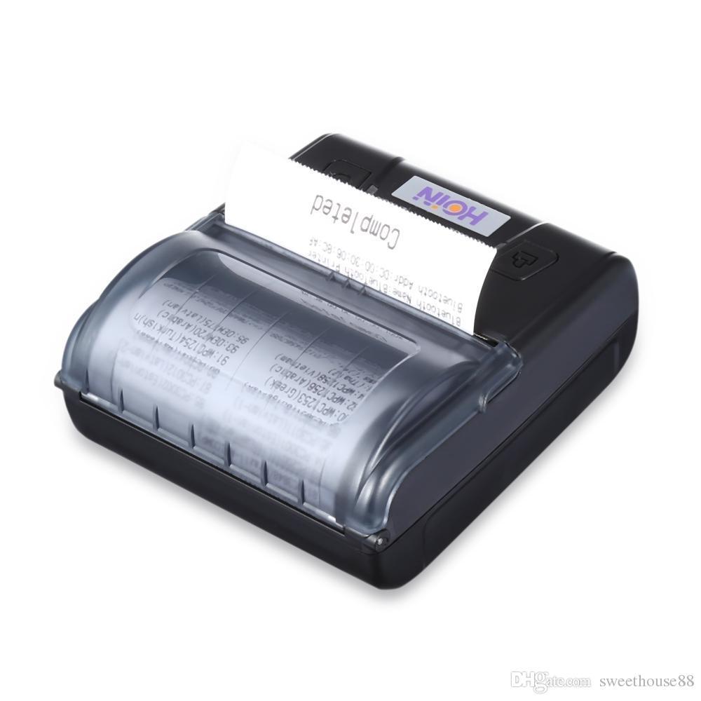 Hoin Mini Impressora Térmica Receipt Máquina Impressora Térmica Receipt máquina com Ticket recarregável 1500mAh 7.4V Cash Register Printing