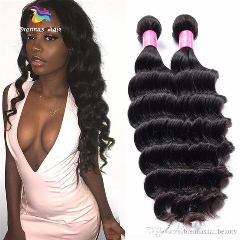 Unprocessed Indian Loose Wave Human Hair Extensions 8-30 inch Peruvian Malaysian Brazilian Virgin Remy Hair Weave Bundles for Black Women