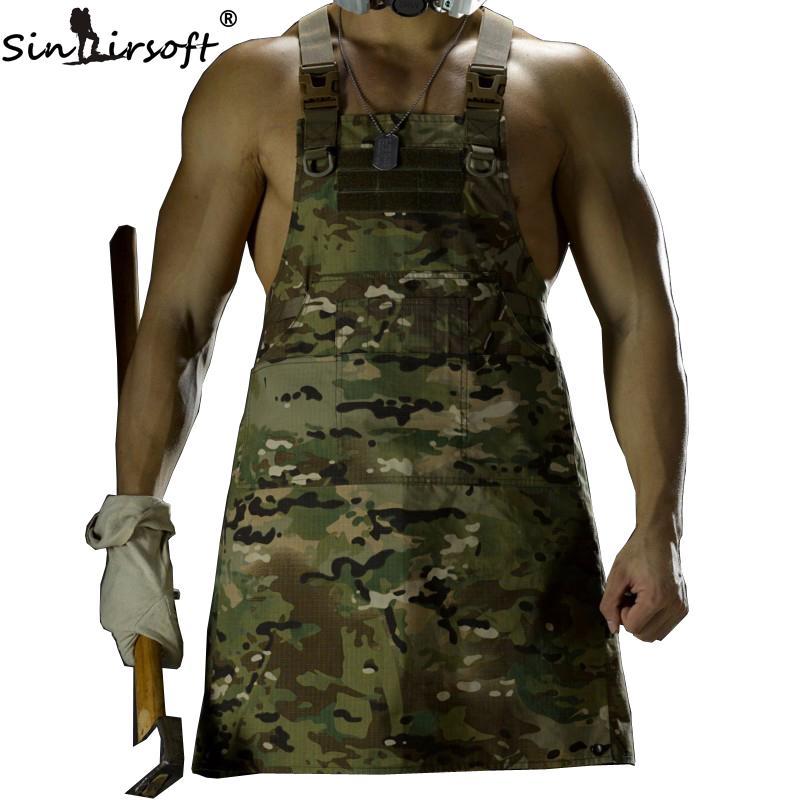 SINAIRSOFT Unisex Sleeveless Tactical Vest Apron Pinafore Camouflage Technician Mechanic Aprons Tactical Multicam pinafores 11 Color