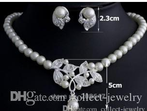 красочные кристалл алмаза жемчужина невесты свадебный комплект ожерелье серьги yrgyfbvfg