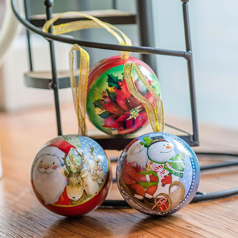 1pc Party Hanging Ball Ornament decorations for Home Christmas decorations Gift Christmas Tree Decor Ball candy box Xmas