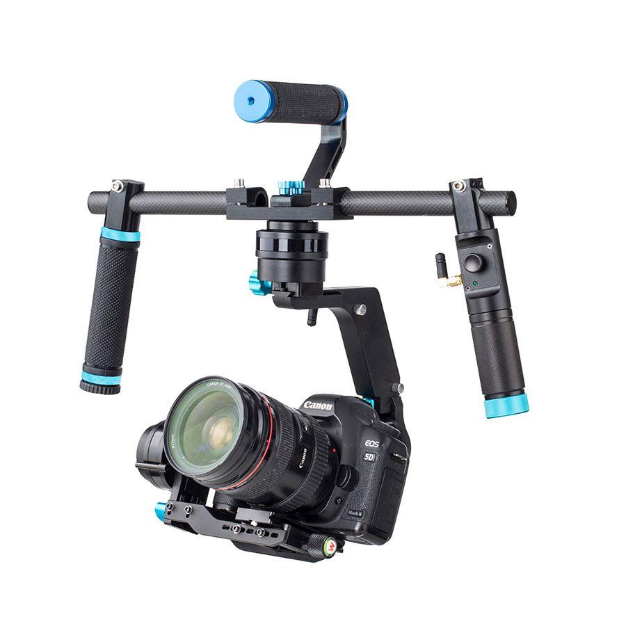 Wondlan NUEVO SK03 Estabilizador de cardán de 3 ejes Handheld DSLR Cardán de doble mango para cámaras SONY Nikon Canon