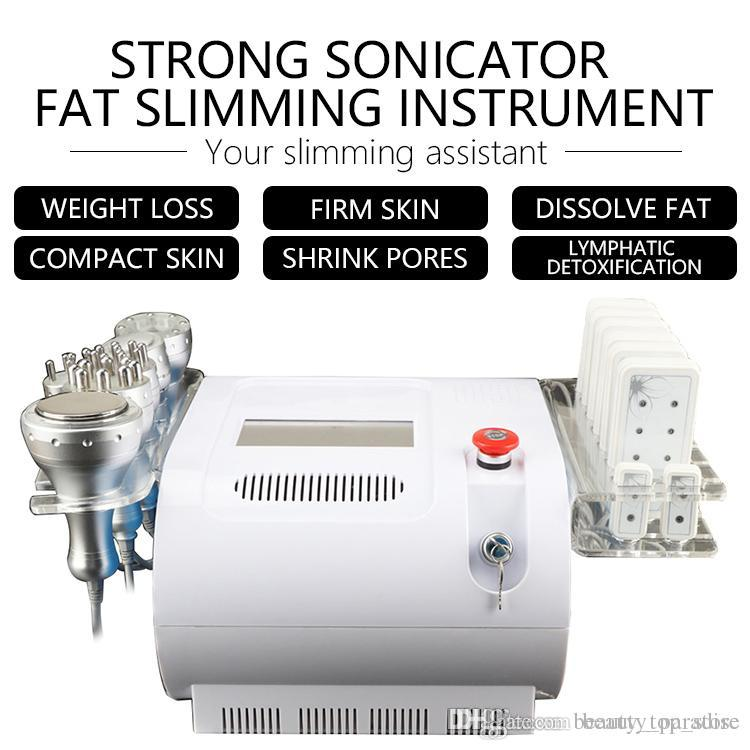 Hot sale 40K Ultrasonic Cavitation Vacuum Bipolar Tripolar RF Body Face Skin Tighten Lipo Laser Fat Burning Weight Loss Slimming Machine