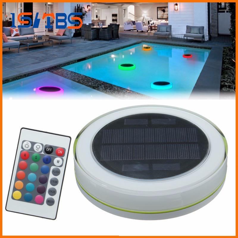 RGB LED Unterwasserlicht Solar Power Pond Schwimmender Swimmingpool im Freien Wasserdichtes dekoratives LED-Licht mit Fernbedienung