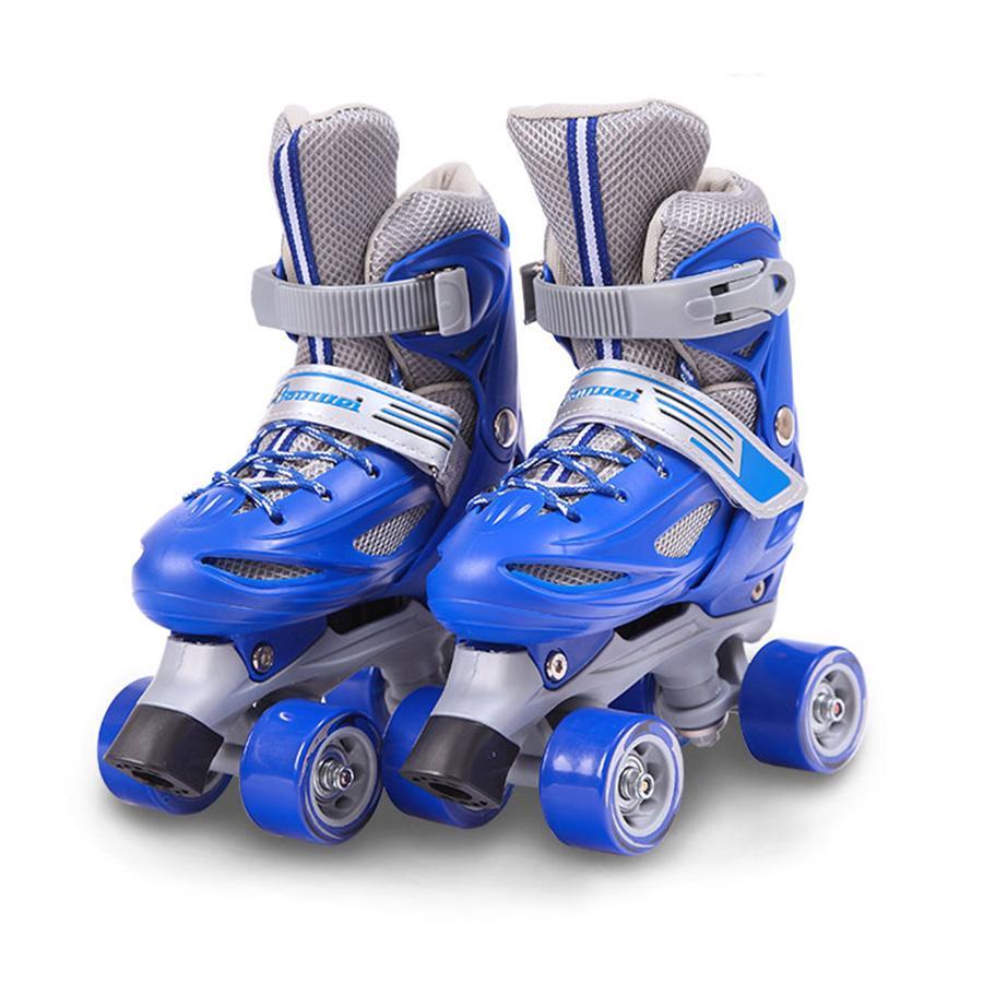 Japy Kid's Rolls Skates Size قابل للتعديل خط مزدوج الزلاجات للأطفال اثنين خط التزلج أحذية Patines مع PVC 4 عجلات