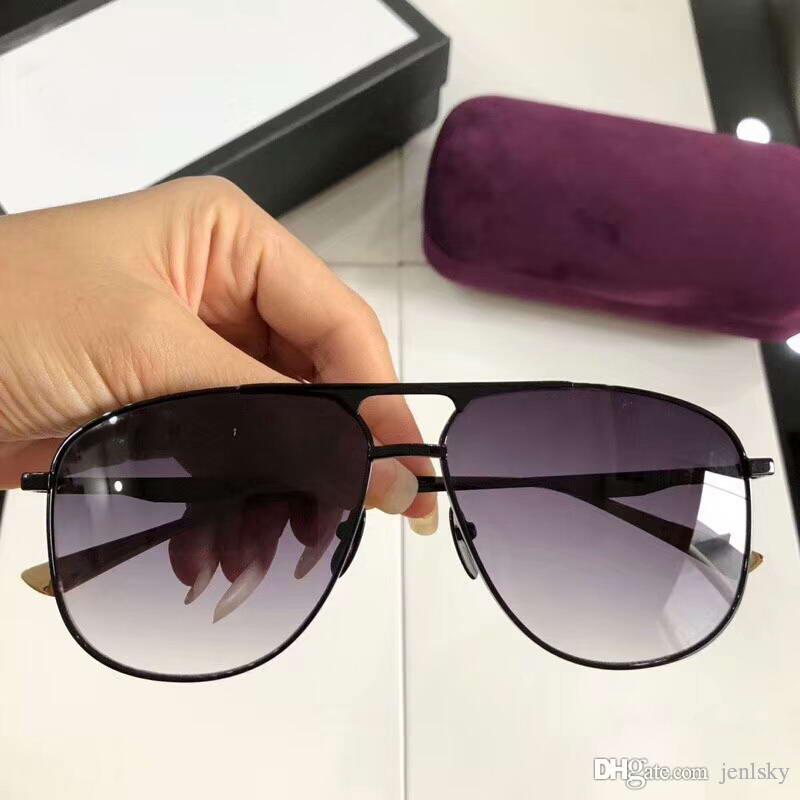 0336S Siyah / Gri Gölgeli Güneş Gözlüğü Sonnenbrille occhiali da sole 2018 Lüks Tasarımcı Güneş Gözlüğü gözlük kutusu ile