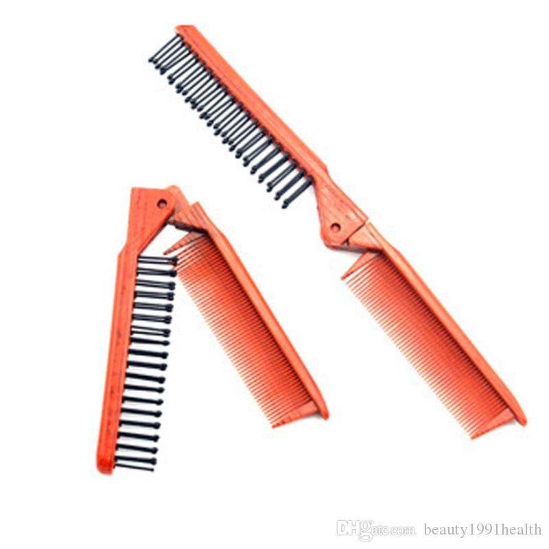 New Professional Fold antiestático cauda Comb Salon Folding Combs cabeleireiro escova de cabelo Comb Hair Care Plastic Pentear