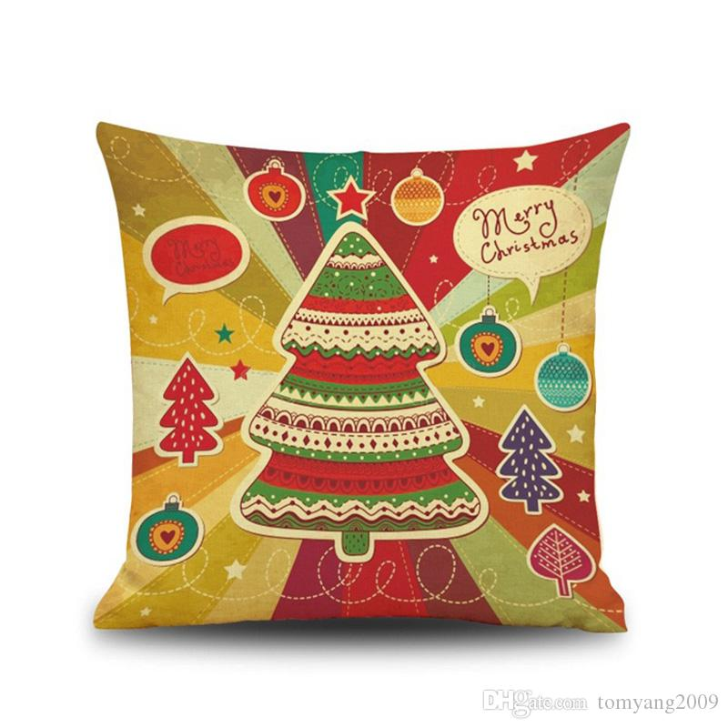 2020 casos de letra almofada Estilo New Feliz Natal fronha Ano Novo Presente de Natal da rena Sofa Pillow Car capas de almofada