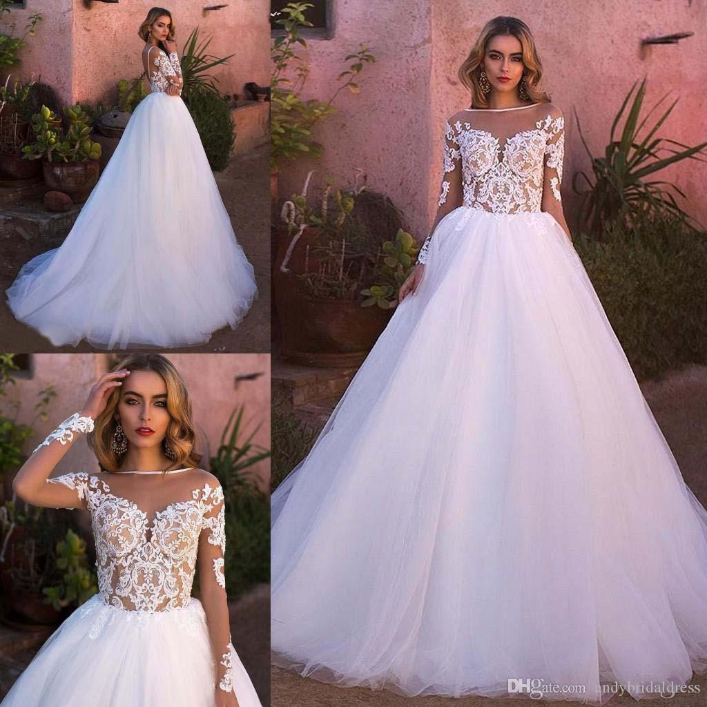 Scalloped Lace Wedding Dress Beach Bridal Gown White Ivory 2 4 6 8 10 12 14 16