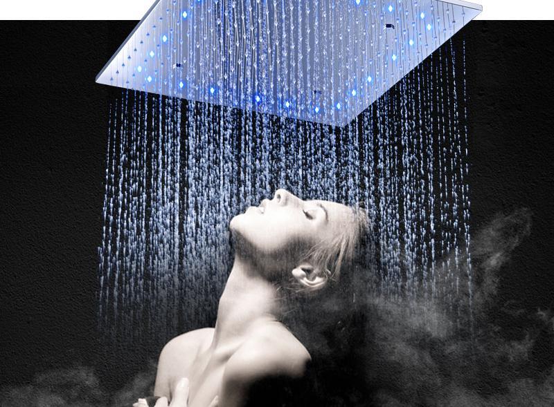 hm LED Ceiling Shower Set 20 Inch constant temperature Change Mist Rain Bathroom Shower Head Multiple Functions Shower Diverter (5)