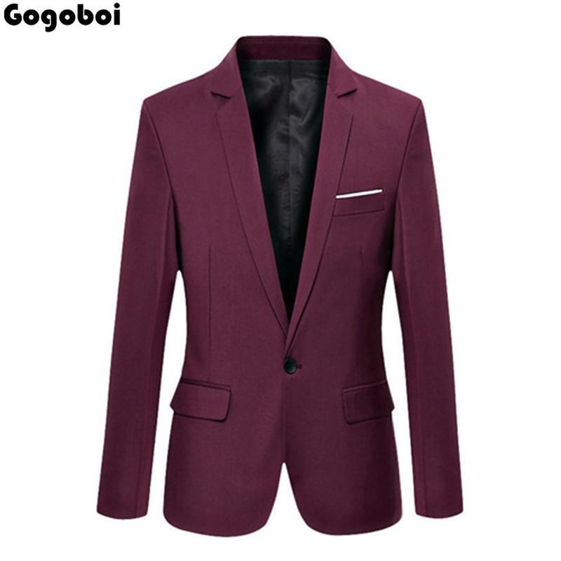 Новые горячие продажи новые стильные топы мужская повседневная Slim Fit One Button формальный костюм Blazer пальто куртка