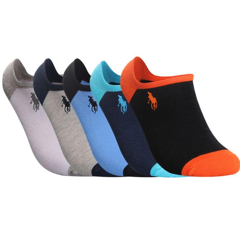 Socken Männer Casual 5 Paare / los Neuerscheinungen Freies Verschiffen Schnelle Lieferung Baumwolle Business Freizeit Herren Socken Reine Farbe Boot