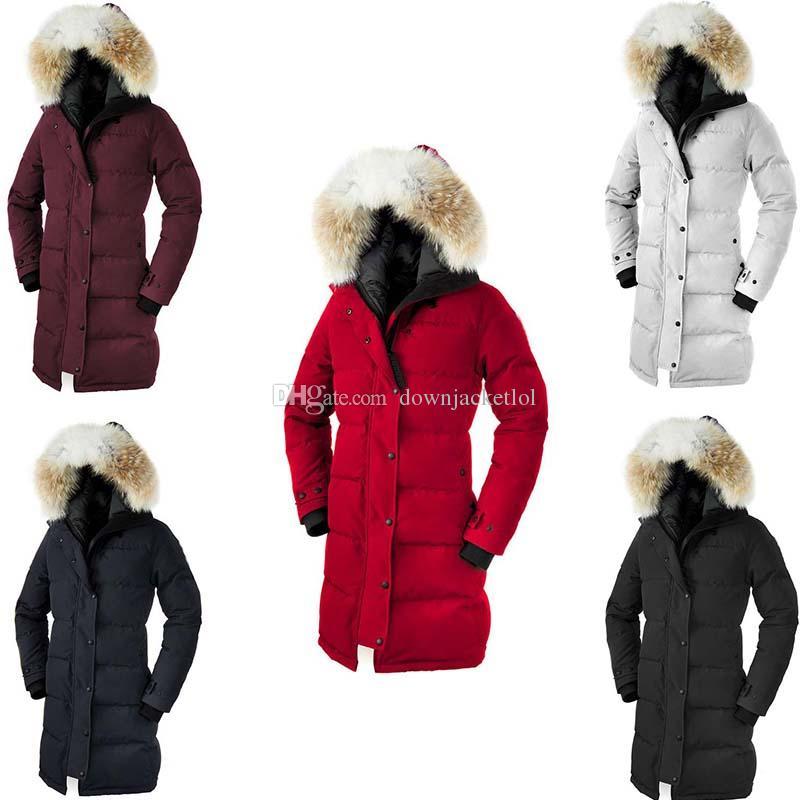 Couleurs variées 94f6c 1208c 2019 Women Model Trillium Femme Outdoors Fur DownJacketl Hiver Warm  Windproof Goose Down Coat Thicken Fourrure DownJacketlol Goose Shelburne  Par From ...