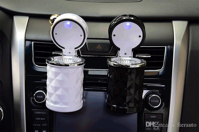 Diamant Auto Aschenbecher Universal Auto Metall Aschenbecher Autozubehör Weiß