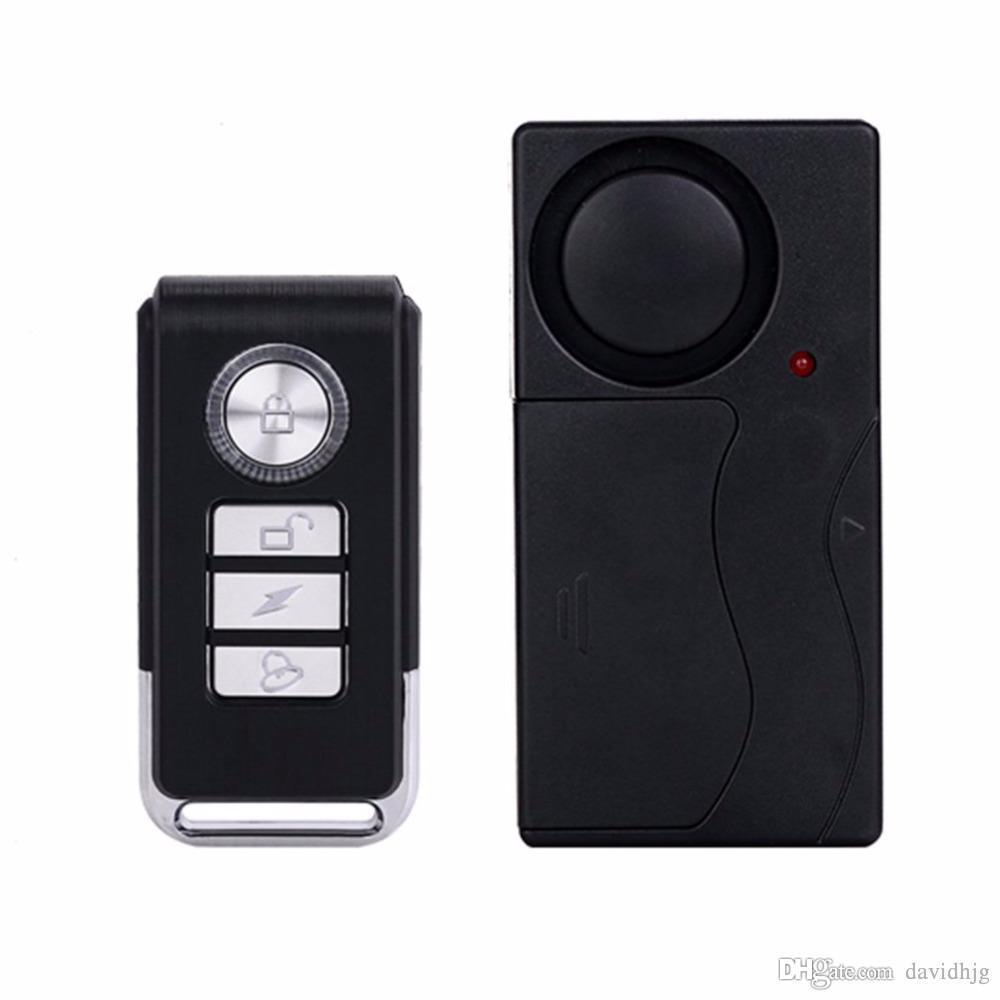 Pratico Telecomando Senza Fili di Vibrazione Sensore di Allarme Porte E Finestre Auto Casa home Security