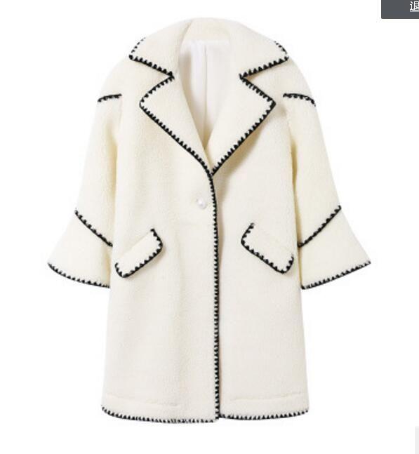 النساء معطف أعلى جودة النبيلة الأزياء الفاخرة السيدات أنيقة التلبيب مزين بسيط الصوف الكشمير رئيس الأكمام خياطة سترة