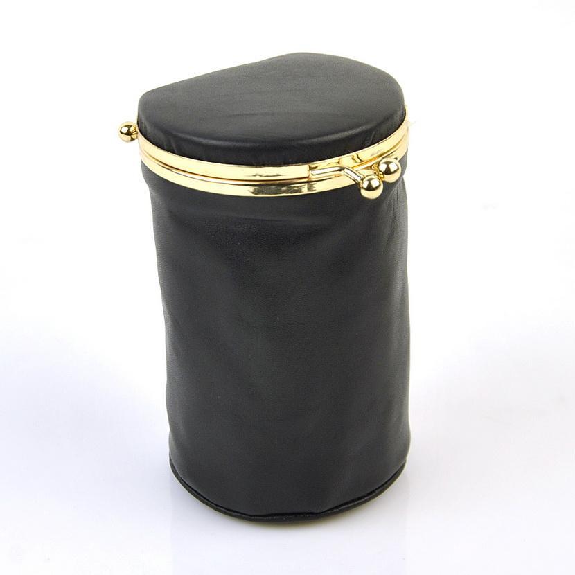 Las mujeres de cuero genuino real bolsa de maquillaje caja de lápiz labial bolsa de cosméticos piel de oveja natural organizador de la vendimia beso bloqueo diseñador barril