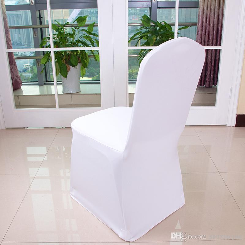 Universal White Polyester Spandex Wedding Chair Covers For Weddings Banquet Folding Hotel Decoration Chair Cover