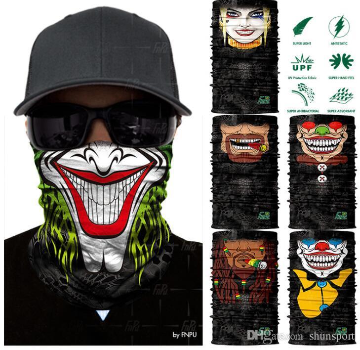 Haute Qualité Halloween Crâne Masque Multi Fonction Ski Moto Biker Écharpe Sport Masques 100pcs DHL Livraison gratuite
