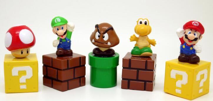 2020 Super Mario Bros Mini Figures Bundle Blocks Mario Goomba