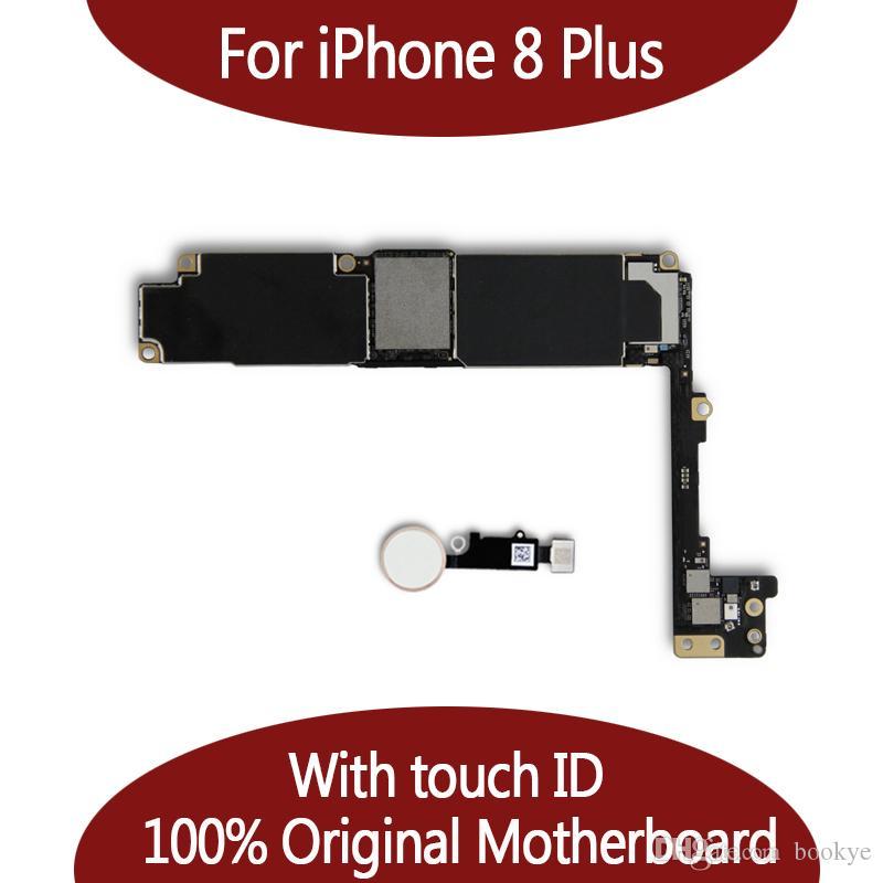 اللوحة الأم لجهاز آيفون 8 بلس 64 جيجا بايت / 256 جيجا بايت مع نظام IOS لبصمات الأصابع ، اللوحة الرئيسية لجهاز آيفون 8 بلس مع لوحة اللمس