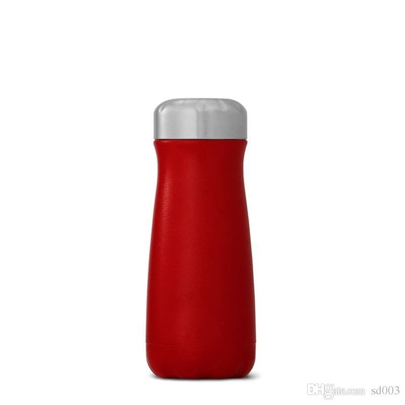 12oz Double Stainless Steel Bottle Big Mouth Coke Bottles Vacuum Cup Tripe Cups Multi Pattern Water Bottle High Quaility 25rd ii