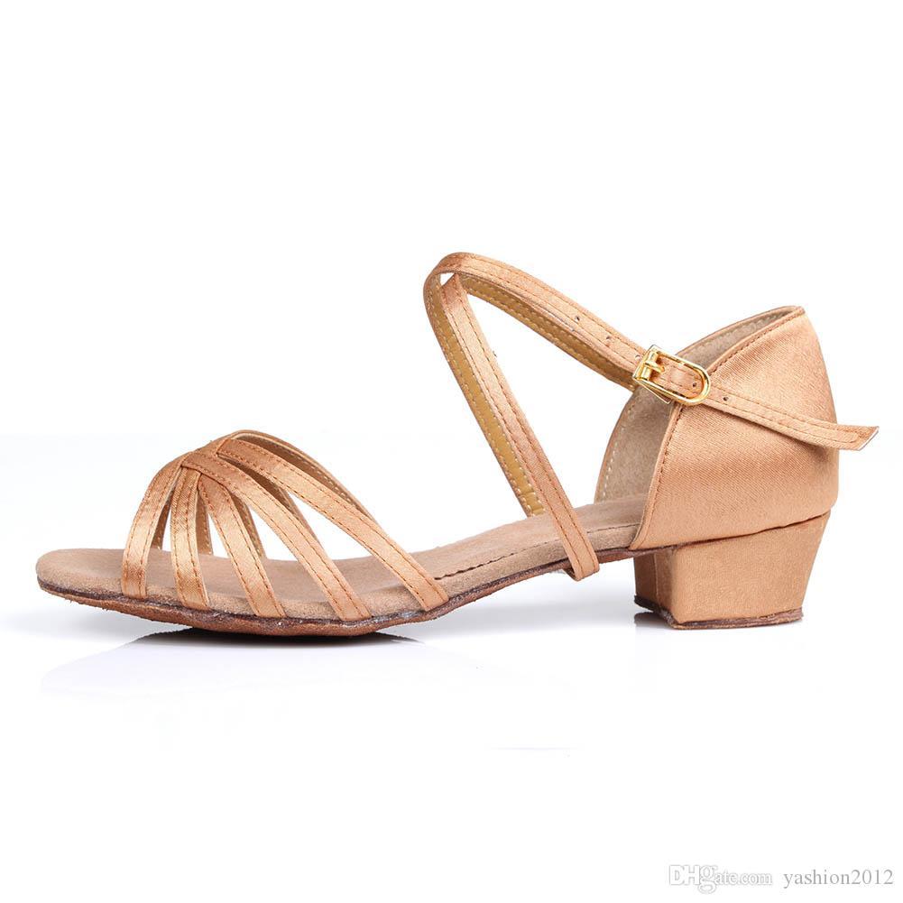 NOVO Ballroom Tango latino sapatos de dança de mulheres latino-alta qualidade Dança sapatos sapatos de dança atacado para meninas salto baixo