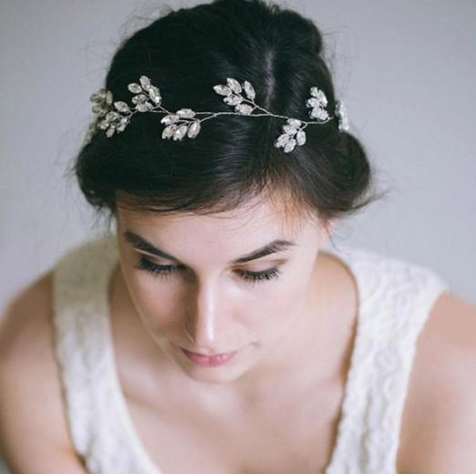Wdding Pretty Bridal Hair Vine Band Silver Tone Claw Crystal Wedding Hair Accessories Wedding Jewelry Head Pieces