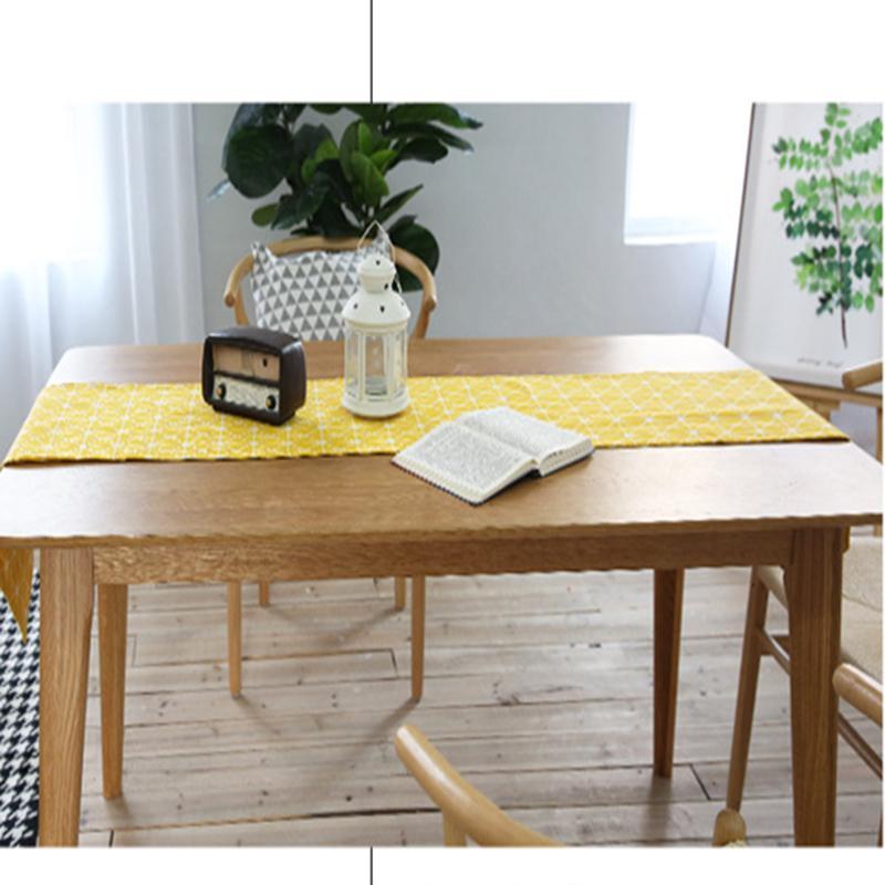 Tabelle Läufer Tabelle Abdeckung Handtuch Baumwolle Leinen Plaid Gitter Bett Sitz Garten Quaste Vintage Home Hotel Restaurant Deal kostenloser Versand