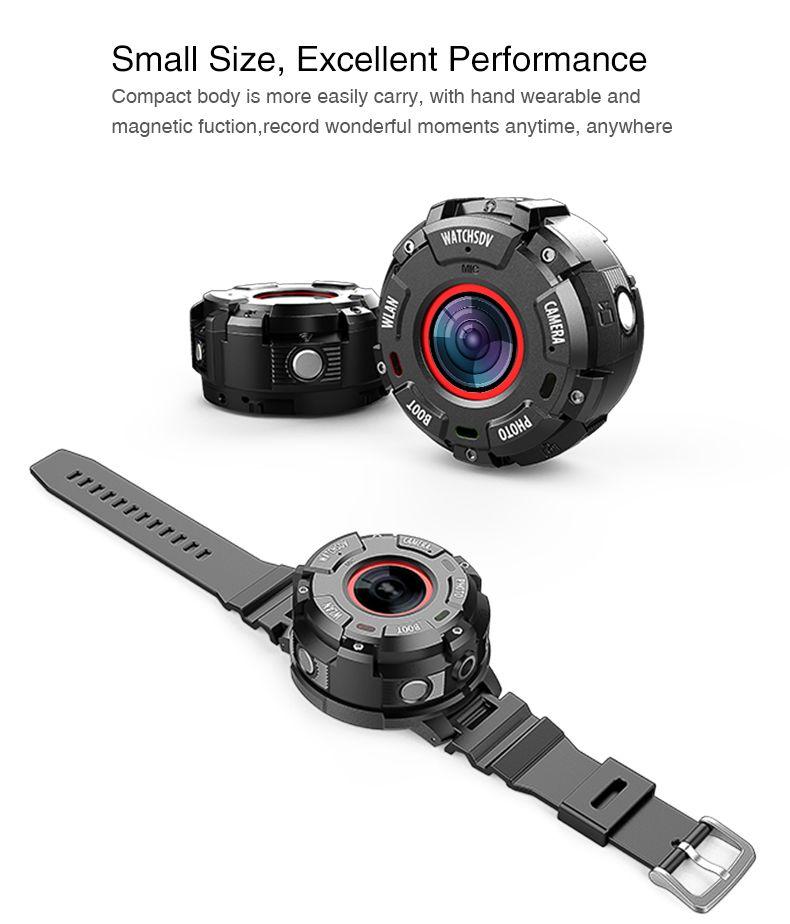 Alta Qualidade S222 esportes Bluetooth câmera IP68 À Prova D 'Água resistente à queda-sports camera bateria 900 mAh smart watch