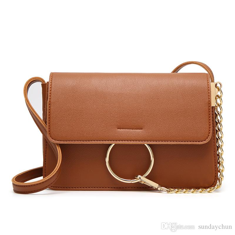 Popular PU lady shoulder bag mobile phone small square bag casual south Korean fashion lady package
