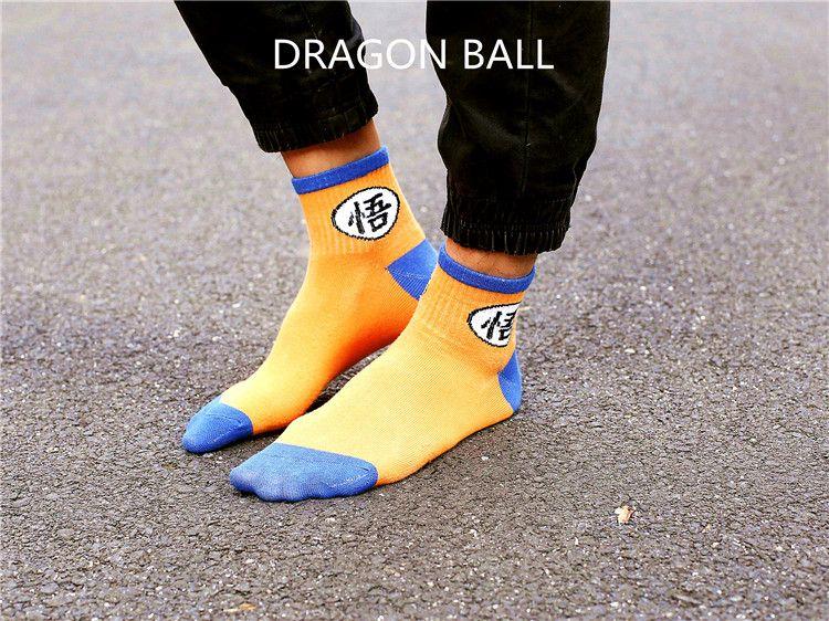Chic Femmes Unisexe Nouveauté Drôle Dessin Animé Dragon Ball Skateboard Socks.Cotton Harajuku Hiphop Chaussettes Sox Couple Cheville Sock Meias