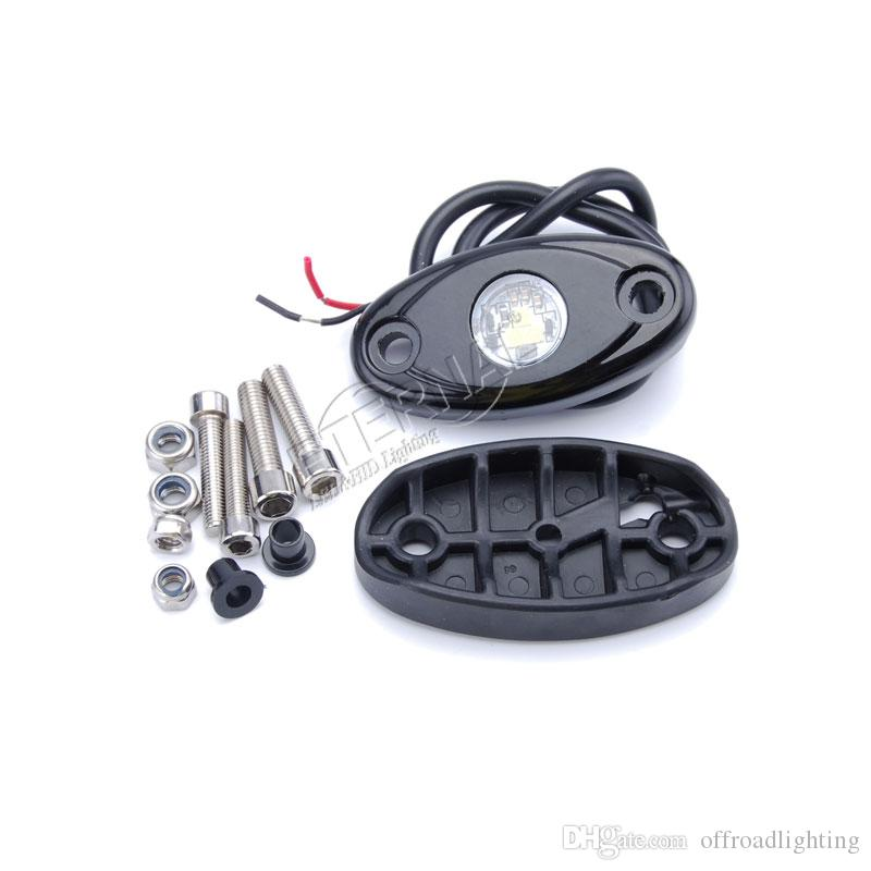 100pcs 9W LED rock light fog lamp running lights for 4x4 CJ TJ YJ LJ JK Rubicon SUV pick up trucks equipment car auto motorcycle ATV UTV SUV