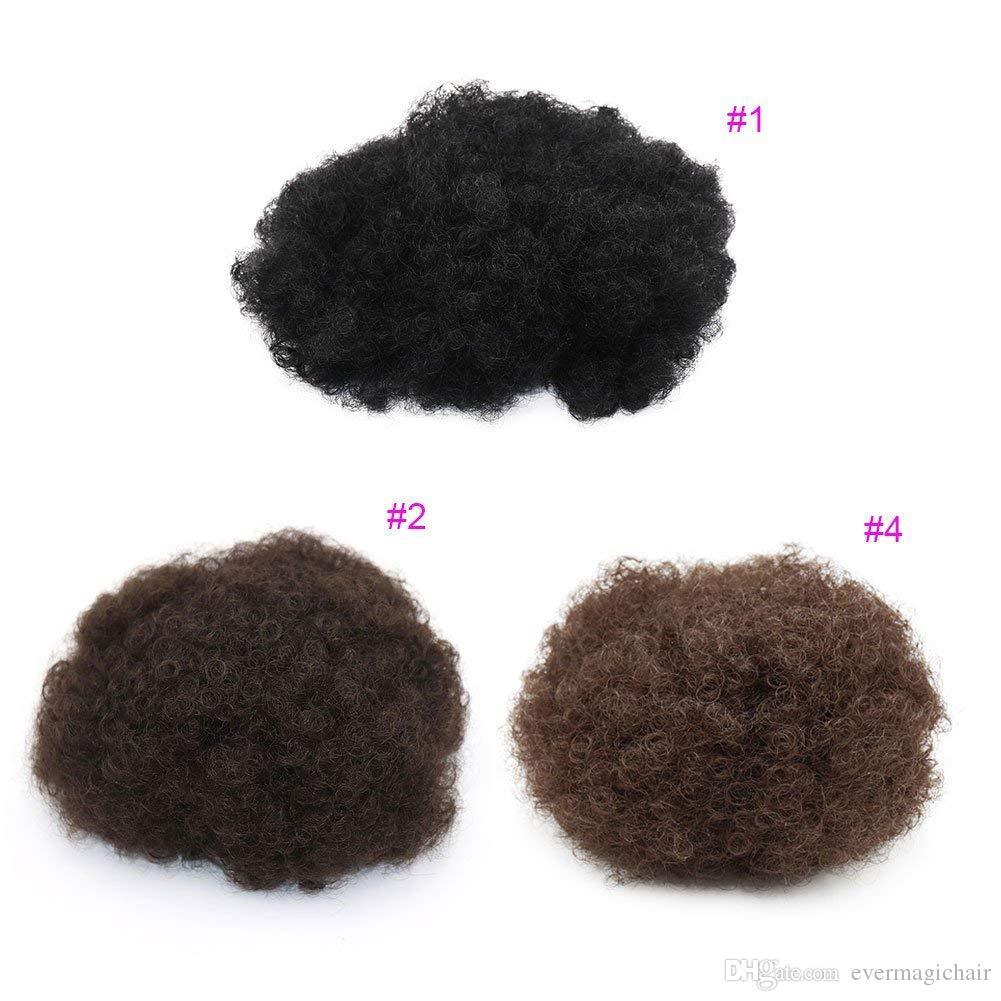 Evermagic 머리 곱슬 머리 조랑말 꼬리 아프리카 계 미국인 짧은 아프리카 곱슬 곱슬 곱슬 포장 클립으로 Drawstring 퍼프 포니 테일 머리 확장
