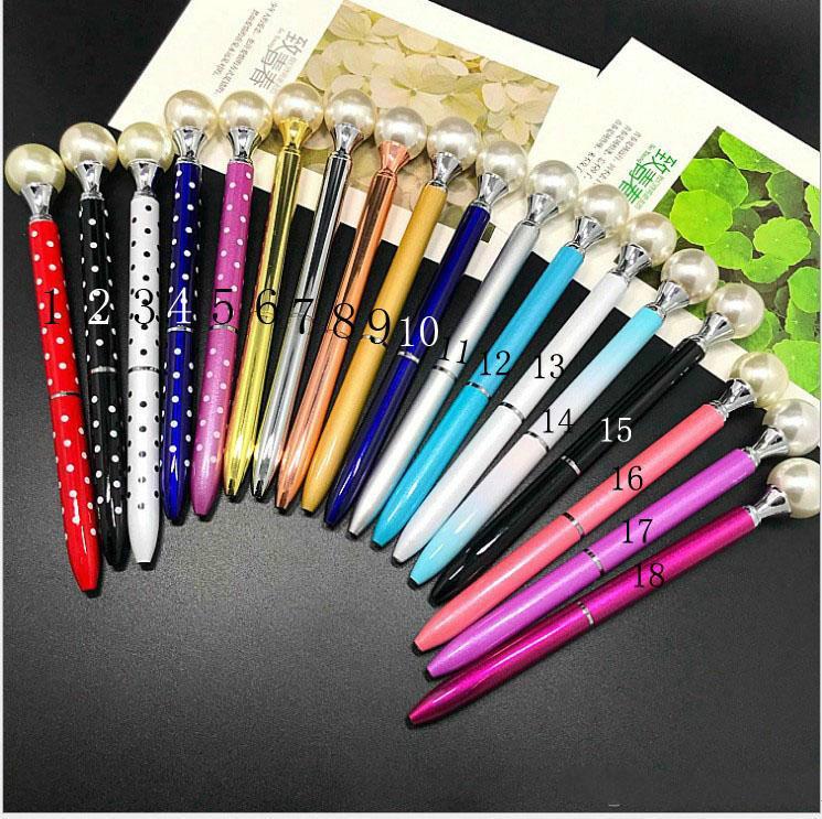 2019 nouveau stylo à bille en métal Creative Big Pearl sceptre encre noire étudiants papeterie cadeau école de fournitures de bureau
