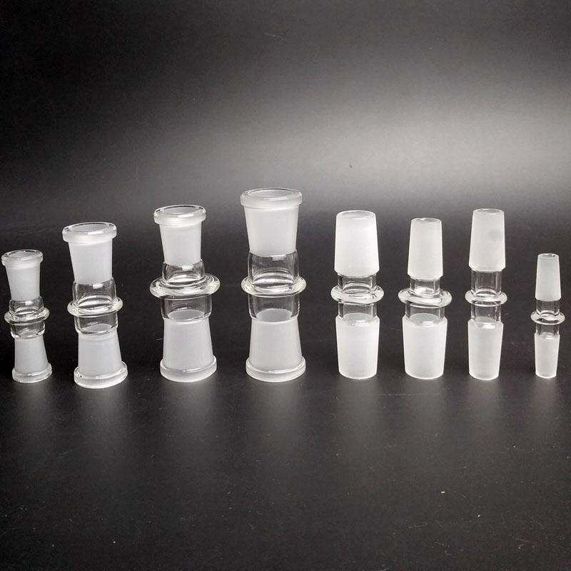 Cam Suyu Boru Bong Oil Rig için Standart Nargile Bowl Adaptör 10-10mm Erkek 14-14mm Erkek 18-18mm Erkek 14-18mm Kadın Cam Adaptör