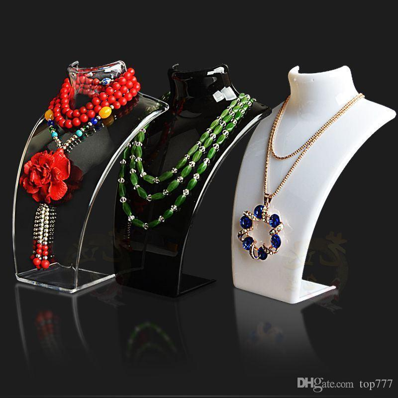 Mannequin Plastic Necklace Pendant Holder Earring Rack Stand Chain Display Hot
