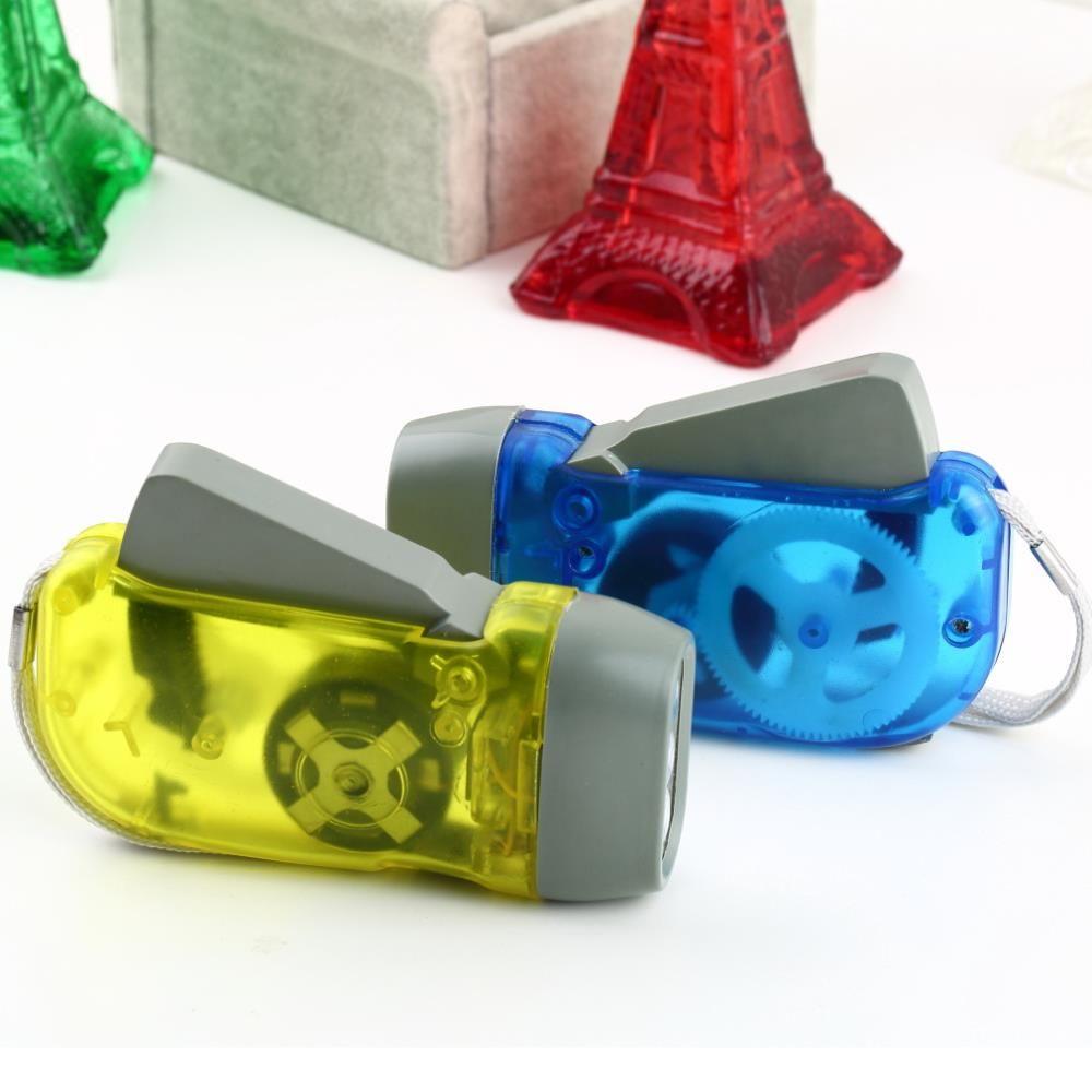 Outdoor 3 LED Hand Press No Battery Wind Up Manovella Dynamo Torcia Luce Torcia Campeggio Luce flash portatile