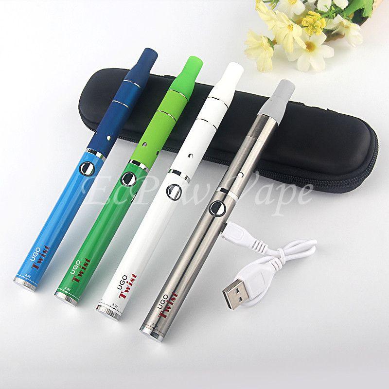 1 ШТ. MOQ UGO Dry Herb Vaporizer Стартовый Комплект Ago Vape Pen 510 UGO-TWIST Аккумулятор с регулируемым напряжением 650 900 мАч Лучший Vaping По ePacket