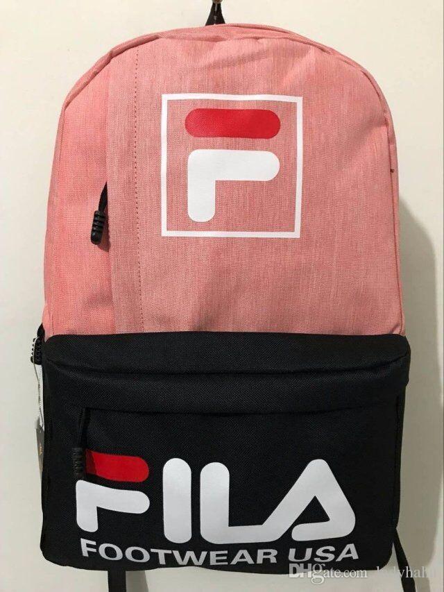 6f0487f4d7 ... high quality brand FILA backpack school bag fashion casual duffle bags  men women kids sport backpacks ...