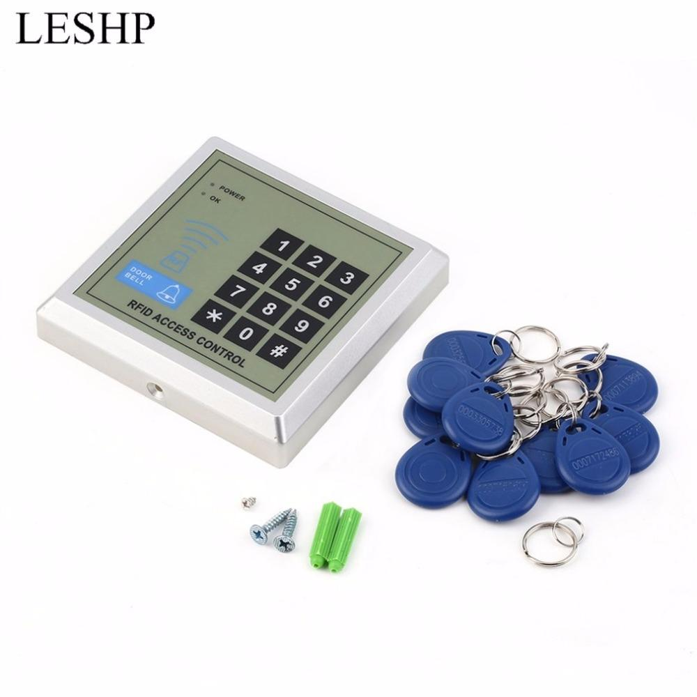 Freeshipping Security Electronic RFID Proximity Entry Door Lock Access Control System + 10 Key Fobs Password Access Control Door Opener